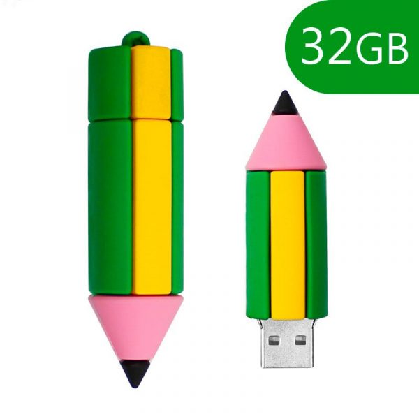 pen drive usb x32 gb silicona lapiz 1