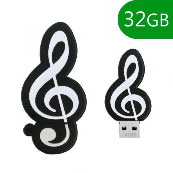 pen drive usb x32 gb silicona musica 1