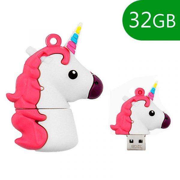 pen drive usb x32 gb silicona unicornio 1