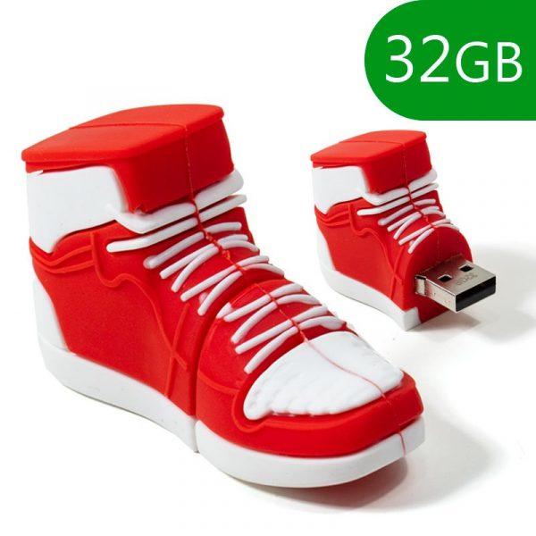 pen drive usb x32 gb silicona zapatilla roja 1